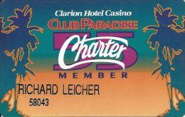Clarino Hotel Casino Reno NV - 3rd Issue Charter 55 Member Slot Card - Casino Cards