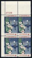 Plate Block -1962 USA Arizona Statehood Stamp Sc#1192 Saquaro Cactus Flower Moon Star - Cactusses