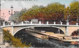 LILLE - 59 -  CPA COLORISEE Du Pont Et Écluse De La Barre -  Edit E C  - ENCH - - Lille