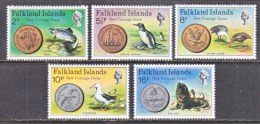 FALKLAND  ISLANDS  245-9    **    FAUNA   COINS - Falkland Islands