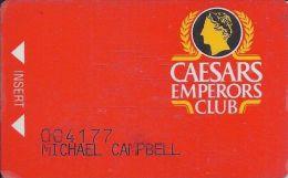 Caesars Casino Atlantic City NJ - 1st Issue Emperors Club Slot Card - Casino Cards
