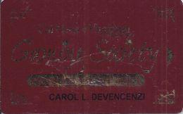 Club Cal-Neva Casino Reno 1st Issue Maroon Slot Card - Casino Cards