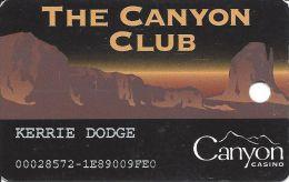 Canyon Casino Black Hawk CO 1st Issue Slot Card (Narrow Mag Stripe)   ....[RSC]..... - Casino Cards
