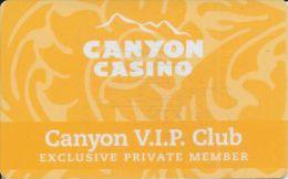 Canyon Casino Black Hawk CO 8th Issue Slot Card (Blank)   ....[RSC]..... - Casino Cards