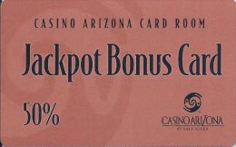 Casino Arizona Salt River, AZ - 50% Jackpot Bonus Card - Casino Cards