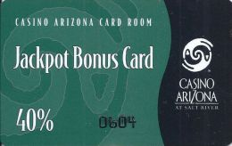 Casino Arizona Salt River, AZ - 40% Jackpot Bonus Card - Casino Cards