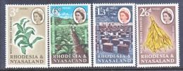 RHODESIA And  NYASALAND  184-7   *   TOBACCO - Rhodesia & Nyasaland (1954-1963)