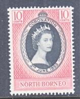 NORTH BORNEO   260   *   Q E  II  CORONATION - North Borneo (...-1963)