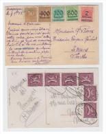 ALLEMAGNE -- DEUX CARTES DE LA PERIODE INFLATIONNISTE -- DATEES 1922 ET 1923 - Allemagne