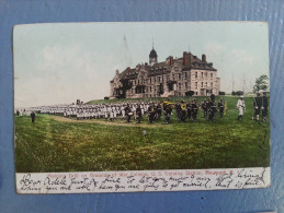 CP Carte Postale Postcard USA Morning Drill War College Training Station Newport R. I. (3) - Newport