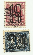 1923 - Olanda 112 + 114 Soprastampati       C4067 - Oblitérés