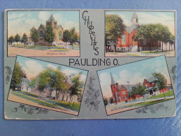 CP Carte Postale Postcard USA Churches Paulding O. (3) - Etats-Unis