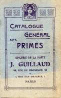 CATALOGUE  GENERAL  DES  PRIMES - EPICERIE De La POSTE -  44 Rue  De Bagnolet Et  1 Rue Des Orteaux - PARIS - Documentos Antiguos