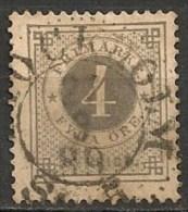 Timbres - Suède - 1886/91 -  4 O. - - Oblitérés