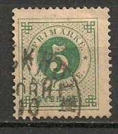 Timbres - Suède - 1886/91 -  5 O. - - Oblitérés