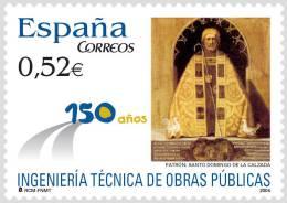 ESPAÑA 2004 - 150 AÑOS DE INGENIERIA TECNICA DE OBRAS PUBLICAS - Edifil Nº 4077 - Yvert 3653 - 2001-10 Neufs