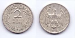 Germany 2 Reichsmark 1926 A - [ 3] 1918-1933 : Weimar Republic