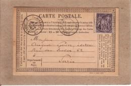 """HAUTE VIENNE - LIMOGES - CARTE PRECURSEUR AVEC REPIQUAGE """" M. J. DUMONT """" - IMPRIMERIE , LIBRAIRIE , PAPETERIE - 1878 - 1877-1920: Période Semi Moderne"""