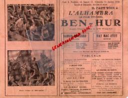 36 - CHATEAUROUX - PROGRAMME CINEMA ALHAMBRA- JANVIER 1930- BEN-HUR- RAMON NOVARRO-AVOY- - Programs