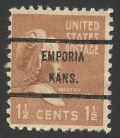 Emporia, Kansas, 1 1/2 C., Sc # 805 - Precancels