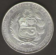 PERU 200 SOLES DE ORO 1974 AG SILVER - Perú