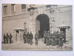 608 PALAIS DE MONACO GARE D'HONNEUR DU PRINCE ND - Prinselijk Paleis