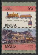 Grenadines Of St. Vincent - Bequia 1984 Mi 5-6 ** Gladstone – Gladstone Class – 0-4-2 (1882) British - Treinen