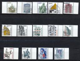 Sehenswürdigkeiten  2381-32 Bogenmarken 14 Ausgaben/ Satz  85,00€ - Gebraucht