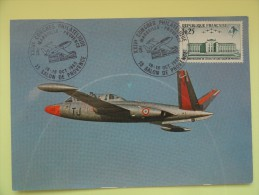 CARTE MAXIMUM CARD FOUGA MAGISTER PATROUILLE DE FRANCE OSI SALON DE PROVENCE - Vliegtuigen