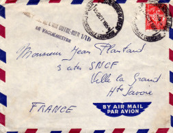 Lettre En FM Du 15/10/1954 De L'AEF De Pointe Noire Plate (Moyen Congo)  Cachet Linéaire Air Outre-mer - Covers & Documents