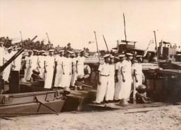 Photo De Presse Keystone 1953 Guerre D´Indochine La Marine Vietnamienne Prend Possession De Division Navale De Cantho - War, Military