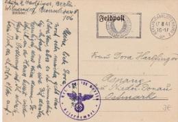 Feldpost WW2: Reserve Lazarett 106 Berlin P/m Berlin-Charlottenburg 17.8.1941  (G73-60) - Militaria
