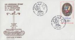 Enveloppe  Bicentenaire  De  La   REVOLUTION      IGNEY   1989 - Révolution Française