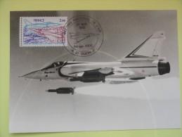 CARTE MAXIMUM CARD MIRAGE 2000  OSI  DIJON FRANCE - Avions