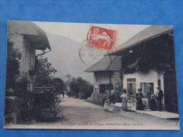 HAUTE SAVOIE-ALLEVES-ENTREE DU VILLAGE RESTAURANT BEAUQUIS-ANIMEE - France