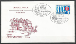 ENVELOPPE COMMEMORATIVE CERCLE PHILA DUDELANGE TP N° 997 (CACHEL POSTAL DE DUDELANGE)  (SCAN VERSO) - Cartes Commémoratives