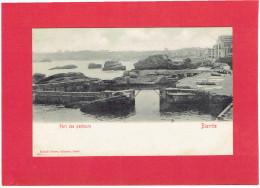 BIARRITZ 1900 PORT DE PECHEURS CARTE PRECURSEUR EN TRES BON ETAT - Biarritz