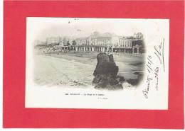 BIARRITZ 1905 PLAGE ET CASINO CARTE PRECURSEUR EN TRES BON ETAT - Biarritz