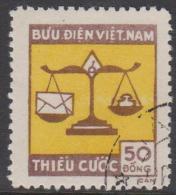 NORTH VIETNAM -  1955 Postage Due. Scott J14. Used - Vietnam