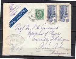 Censor 1940 Pinsaguel > Goudsmit University Of Michigan CLIPPER LISBONNE (f865) - France