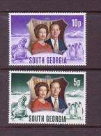 GEORGIE DU SUD 1972 ELIZABETH  YVERT N°42/44  NEUF  MLH* - Géorgie Du Sud