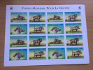 Djibouti Dschibuti 2000 Mi. 678-681 NON DENTELE IMPERF WWF Phacochère Warthog Faune Fauna Feuillet Sheet Of 16 RARE - Unused Stamps