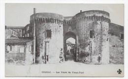 COGNAC EN 1918 - LES TOURS DU VIEUX PONT - CPA VOYAGEE - Cognac