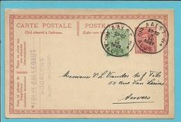 137 Op Entier Met Stempel AALST , Met Privestempel FELIX CALLEBAUT / HOUBLONS / ALOST - 1915-1920 Albert I.