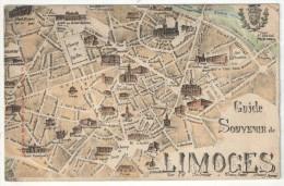 87 - LIMOGES - Guide Souvenir De Limoges - Plan Des Rues - Limoges