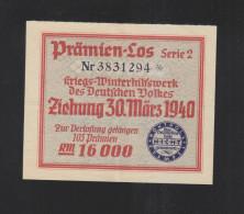 WHW Prämienlos 1940 - Lotterielose