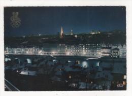 Carte Postale GRENOBLE VILLE OLYMPIQUE VUE GENERALE SOUS LA NEIGE DE NUIT LOGO 1968 JEUX OLYMPIQUES  GRENOBLE 68  ISERE - Grenoble