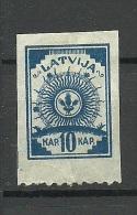 LETTLAND Latvia 1919 Michel 8 B * - Lettonia