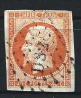"YT 16 "" Napoléon III 40c. Orange "" 1853  Bureaux De Paris DS2 - 1853-1860 Napoleon III"