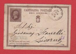 Italie  //  Entier Postal  //  Pour Livorna  //  26 Mars 1876 - 1861-78 Victor Emmanuel II.
